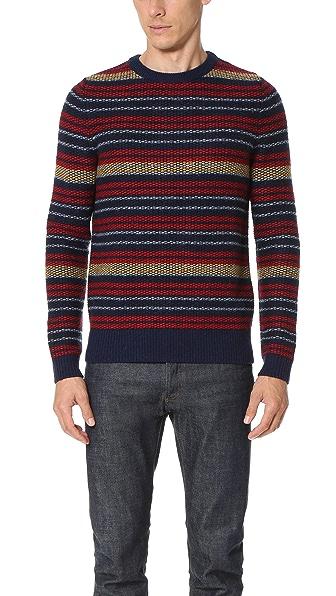 Carven Striped Crew Sweater