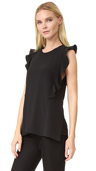 Carven Sleeveless Top - Black