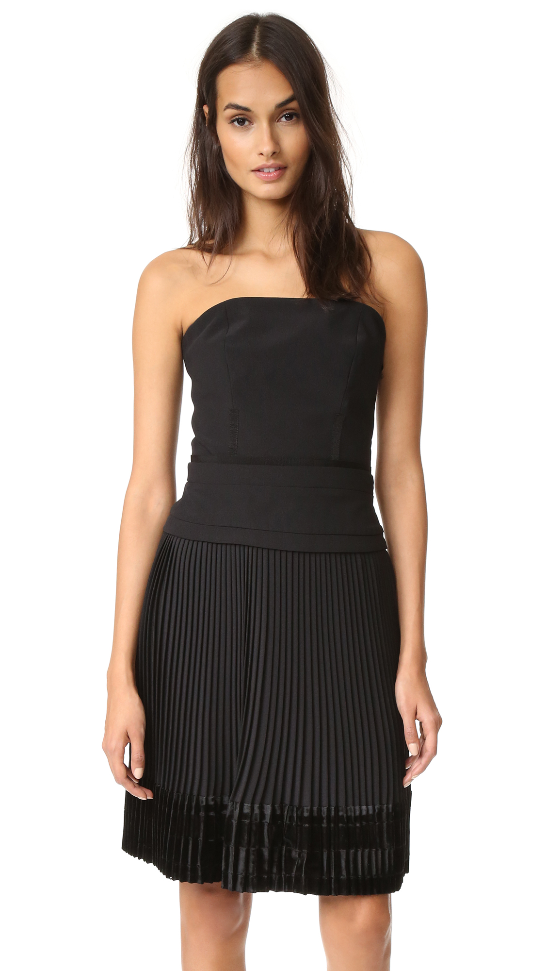 Carven Strapless Dress - Black
