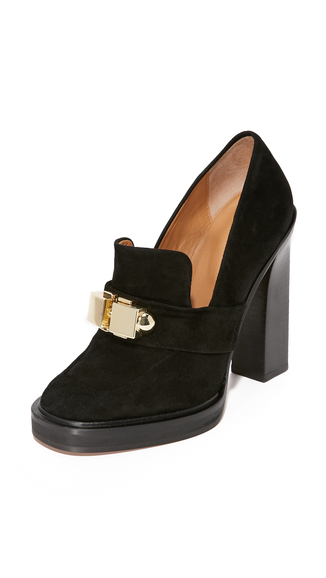 Carven Leather Heels - Black