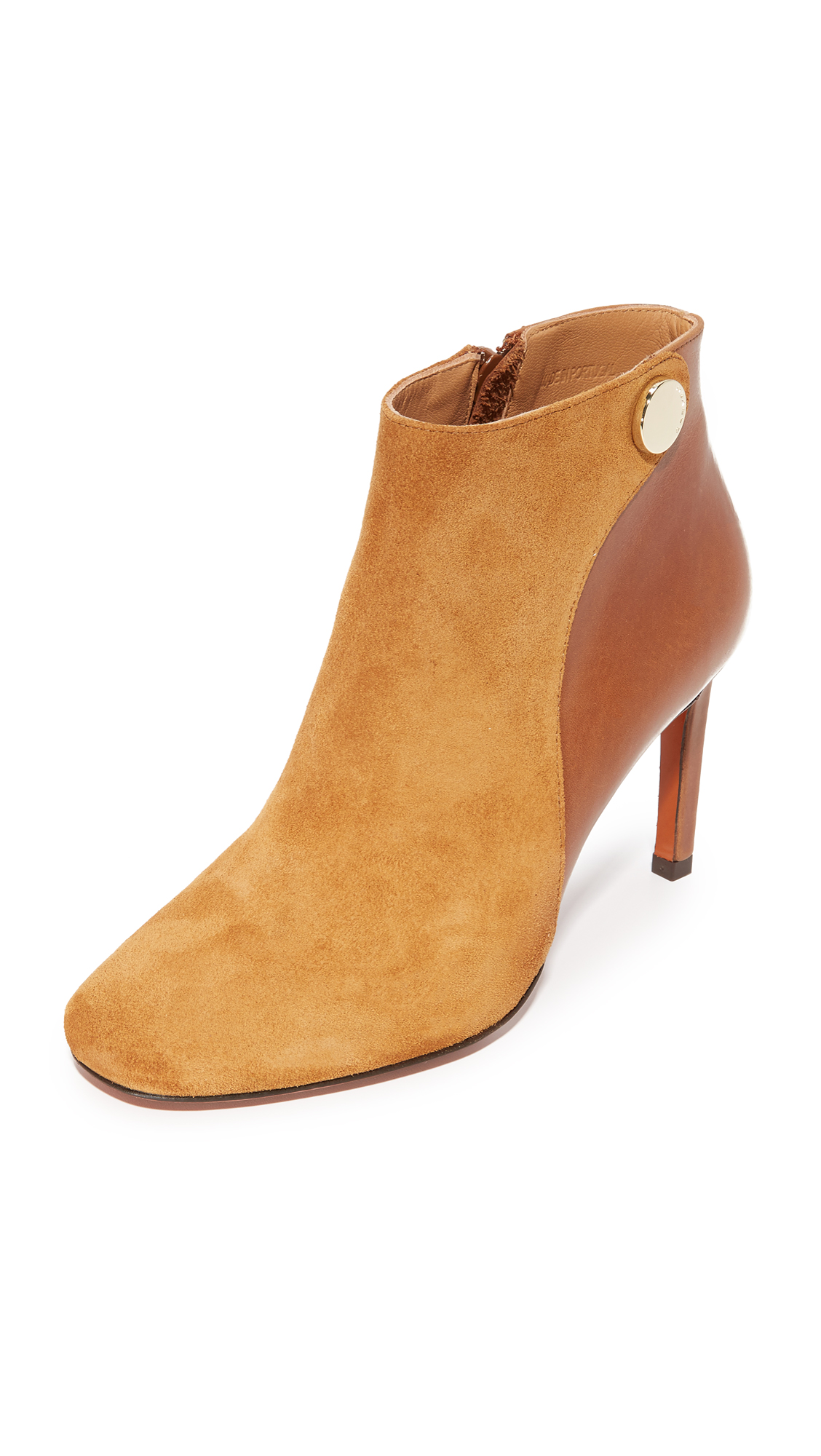 Carven Booties - Cognac