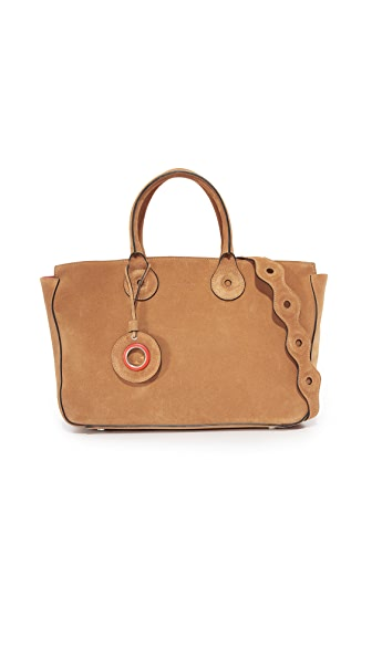 Carven Leather Tote - Cognac