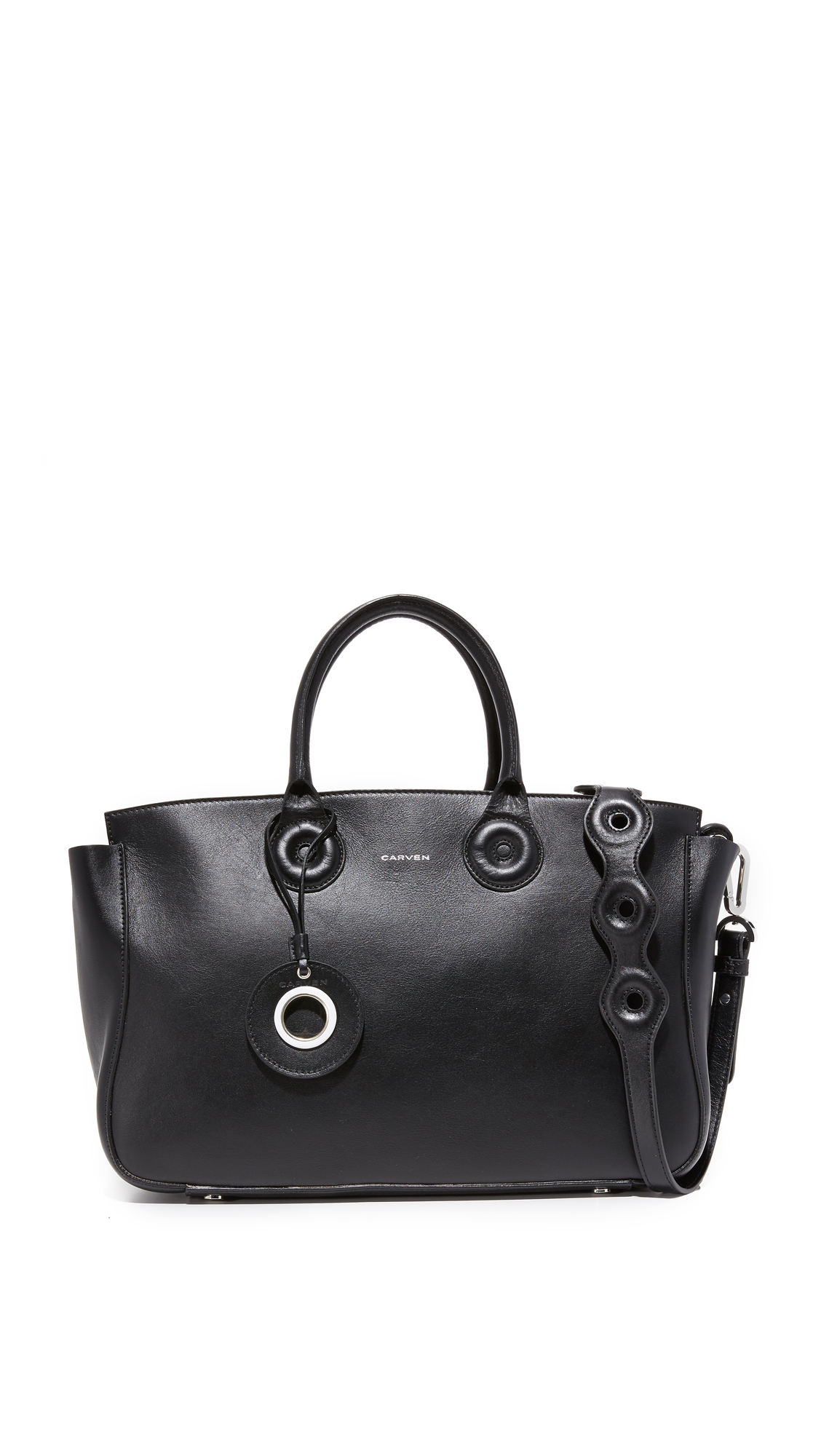 Carven Leather Tote - Black