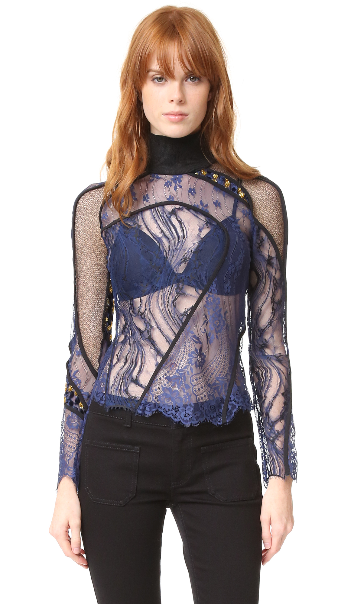 Carven Top - Marine/Black