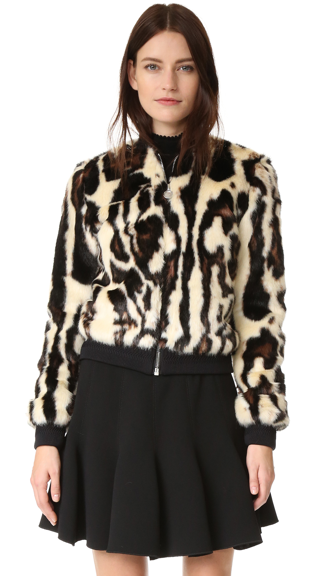 Carven Faux Fur Bomber - Multi