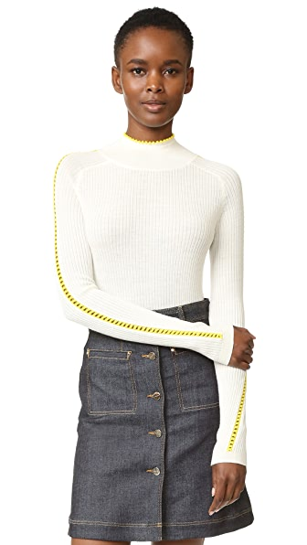 Carven Turtleneck with Side Seams