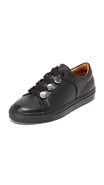 Carven Leather Sneakers - Noir