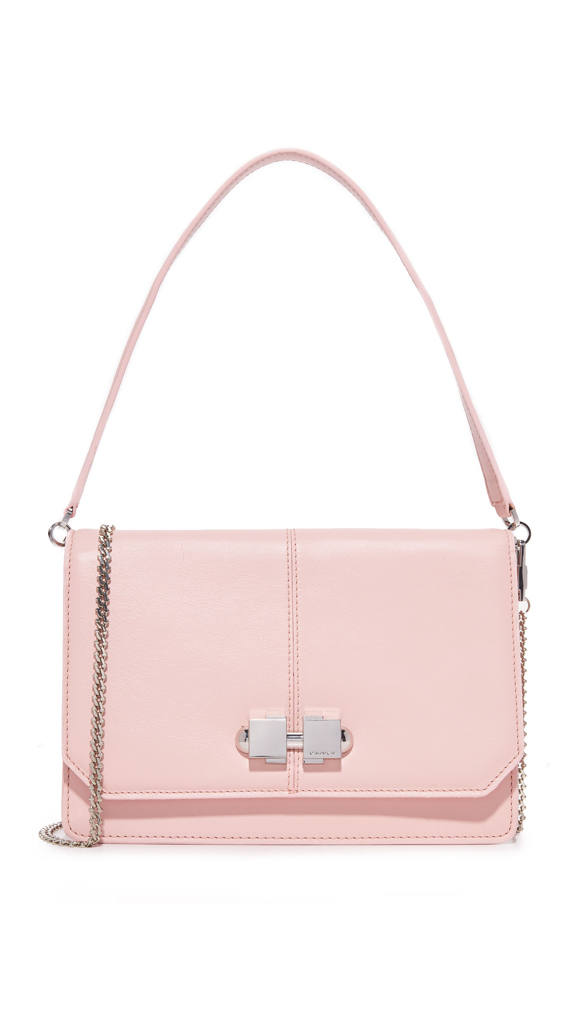Carven Leather Cross Body Bag - Rose Clair