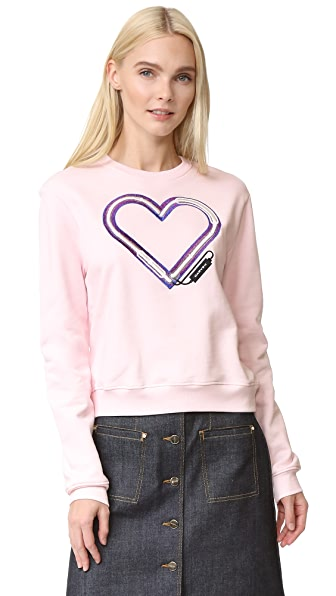 Carven Electric Heart Sweatshirt