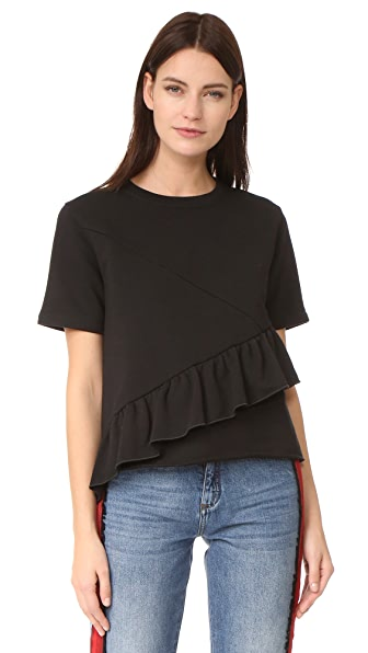 Carven Short Sleeve Top - Noir