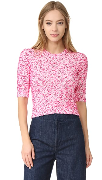 Carven Short Sleeve Sweater - Rose