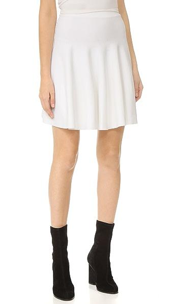 Carven Flared Skirt - Blanc Optique