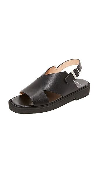 Carven Flat Sandals - Noir
