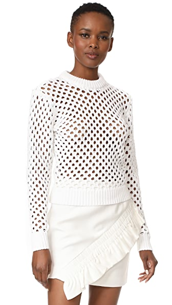 Carven Crew Neck Sweater - Blanc Optique