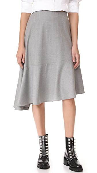 Carven Midi Skirt - Gris Clair