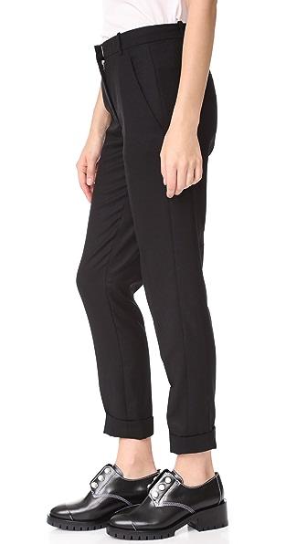CARVEN Cigarette Trousers in Noir