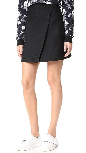 Carven Wool Skirt - Black
