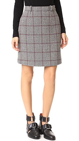 Carven Houndstooth Miniskirt In Multicolore
