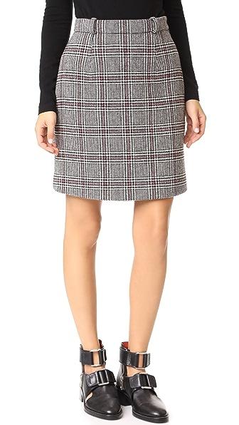 Carven Houndstooth Miniskirt
