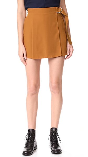 Carven Draped Shorts - Ocre