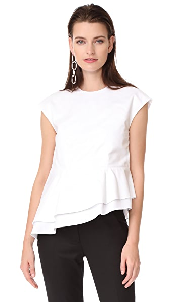 Carven Short Sleeve Top - White