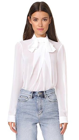 Carven Long Sleeve Top - Blanc Casse