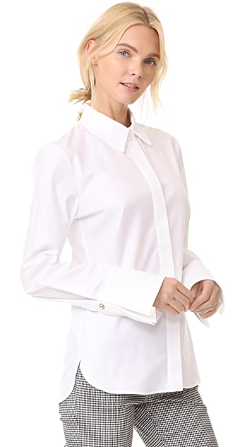 Carven Studded Cuff Shirt