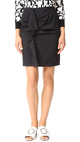 Carven Deconstructed Skirt In Noir