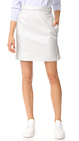 Carven Mini Skirt - Argent