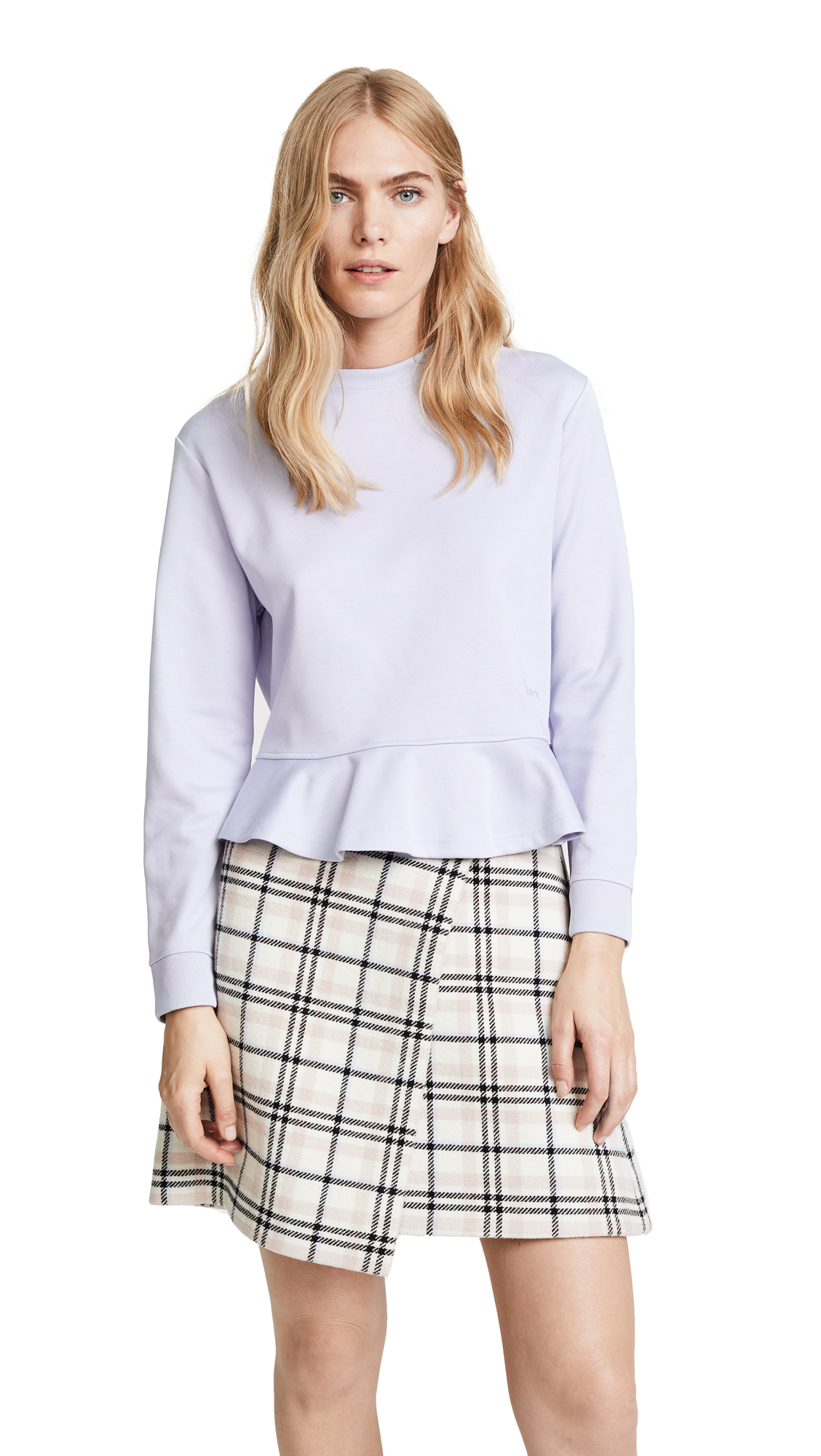 Carven Ruffle Cropped Pullover