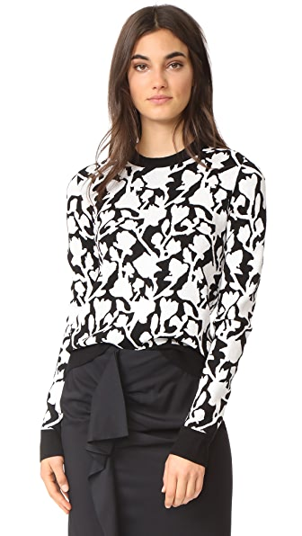 Carven Flower Jacquard Sweater