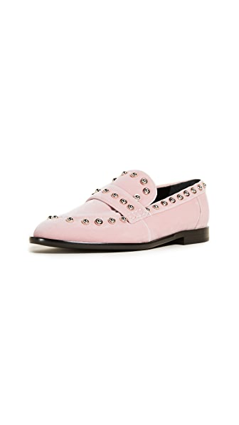 Carven Odeon Loafers In Rose