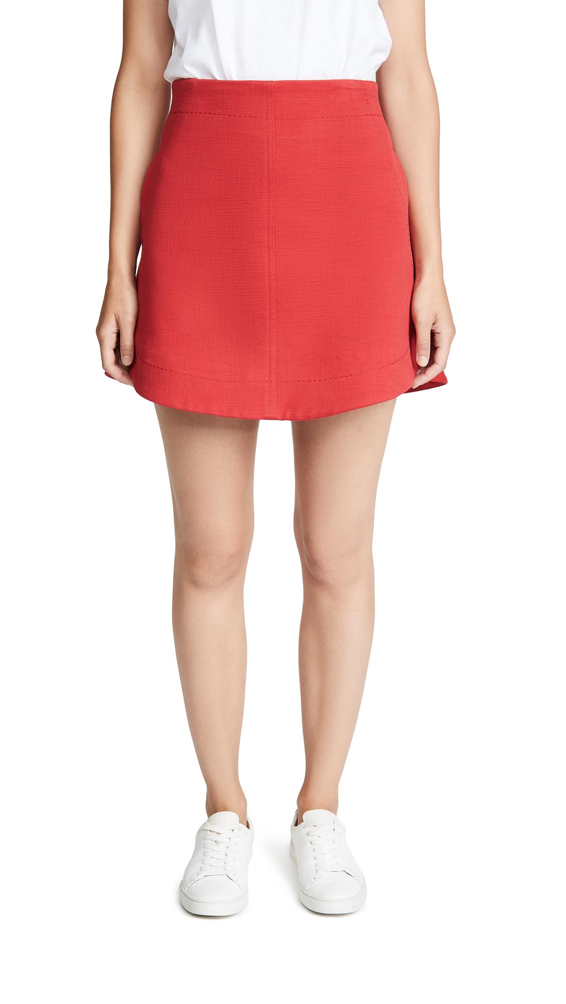 Carven Slubbed Miniskirt In Esplette