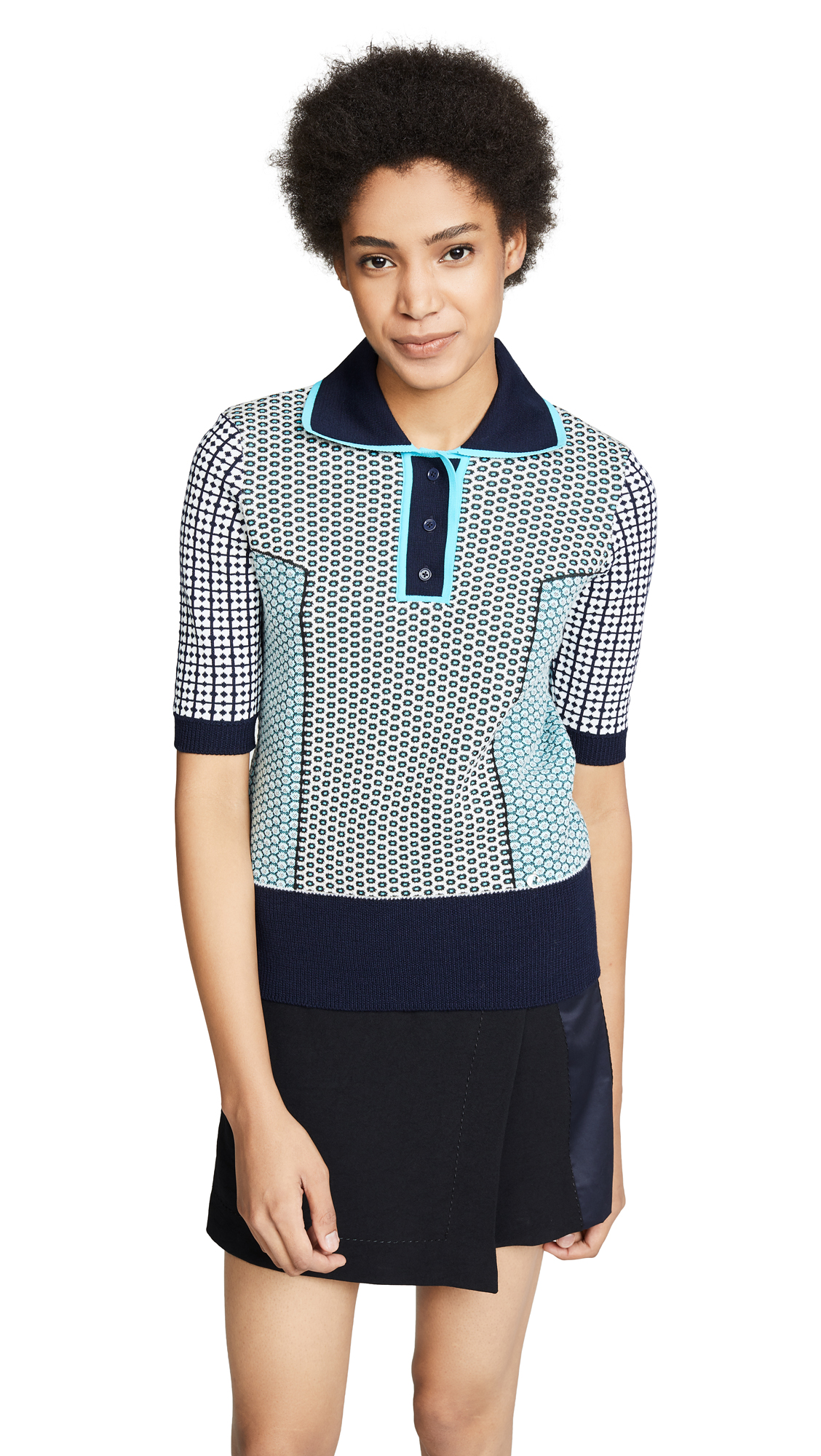 Carven Polo Shirt In Dark Blue