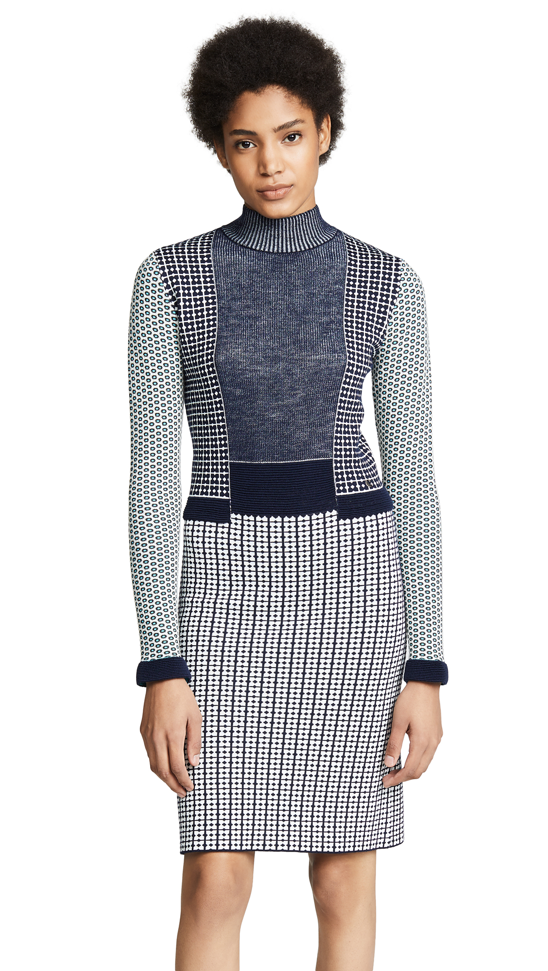 Carven Midi Dress In Dark Blue