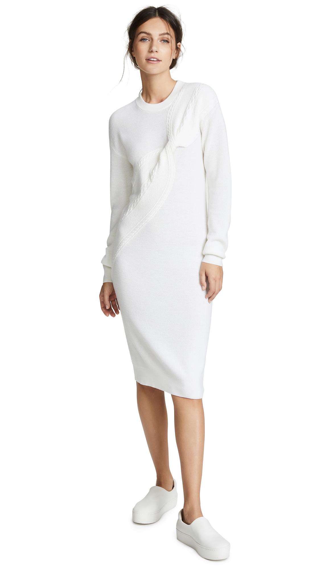 Carven Sweater Dress In Ecru