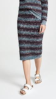 Carven Patterned Midi Skirt
