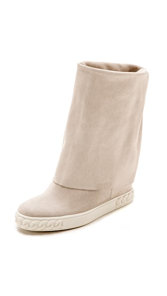Casadei Reena Fold Over Boots - Bianco at Shopbop