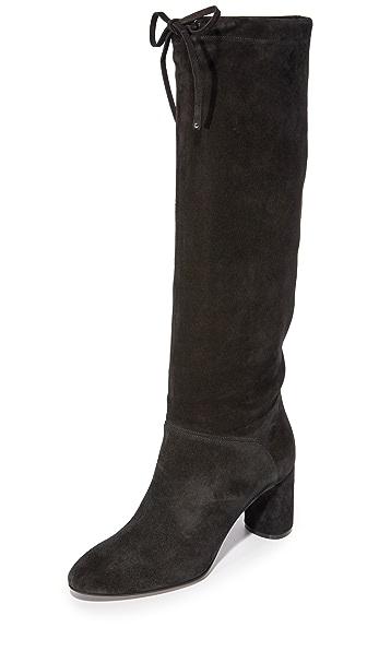 Casadei Suede Boots - Black at Shopbop