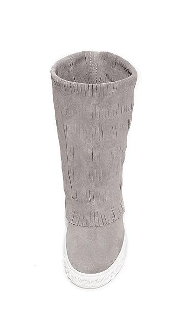 Casadei Fringe Ankle Boots