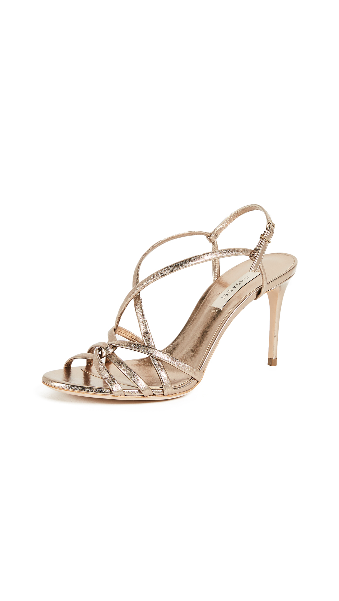 Casadei Thea Strappy Pumps - Tan