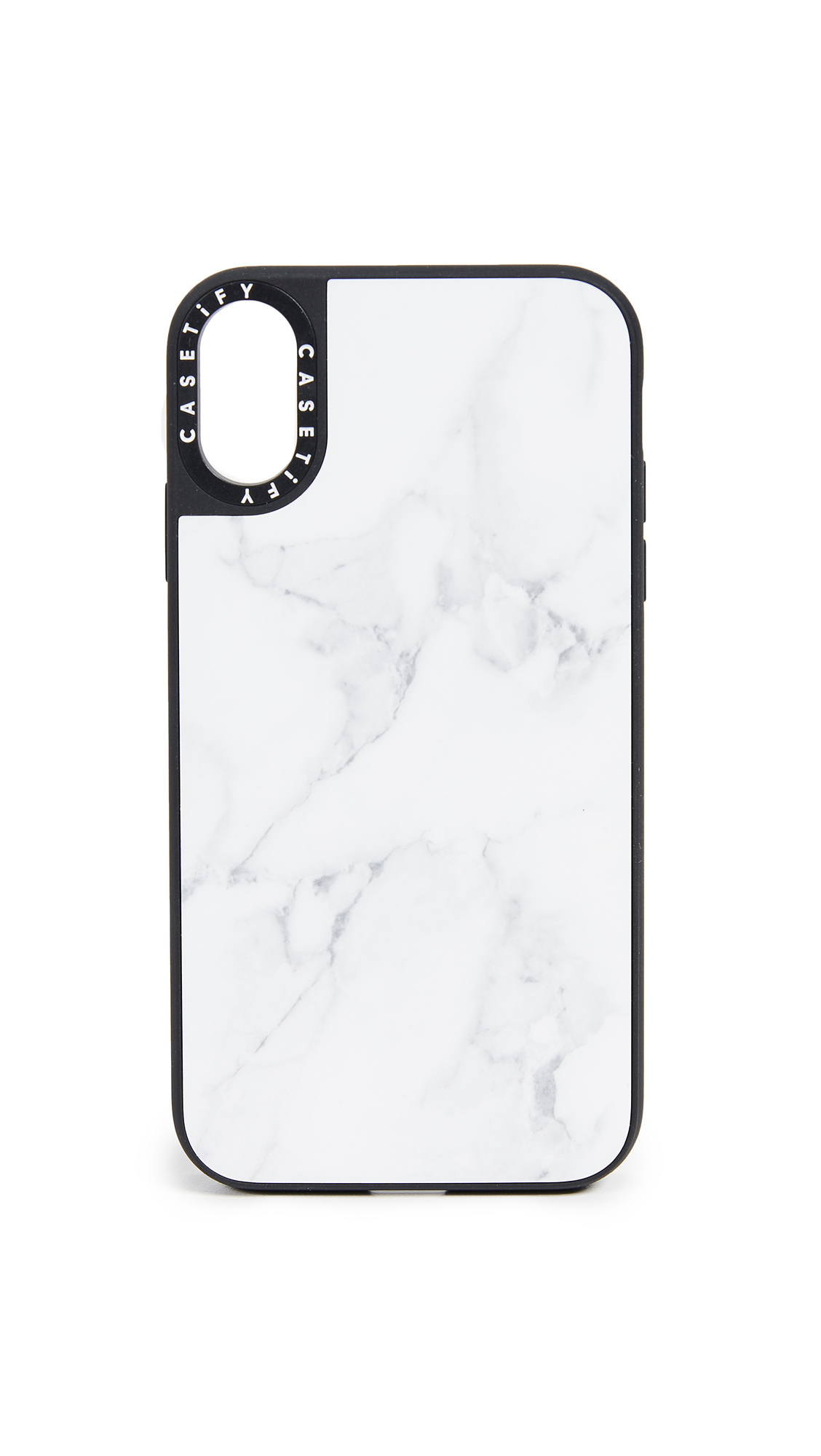 CASETIFY Marble Iphone Xr Case in White Marble