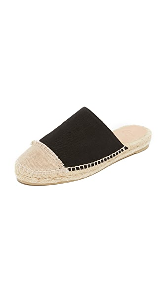 Castaner Fringed Canvas Slides - Black