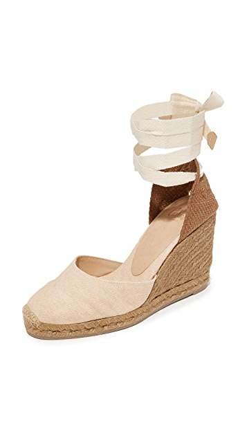 Castaner Net Fabric Wedge Espadrilles