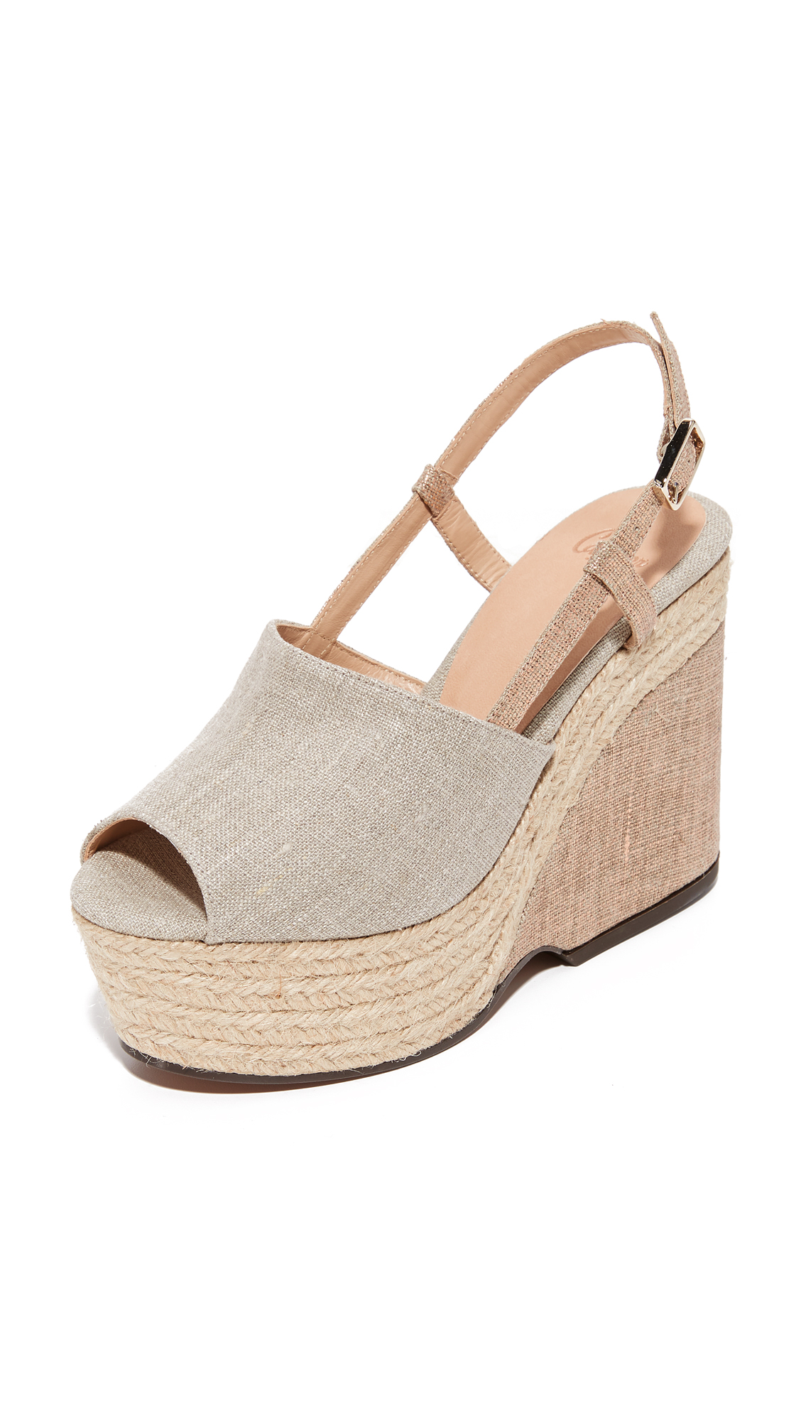 Castaner Sweet Days Platform Sandals - Piedra
