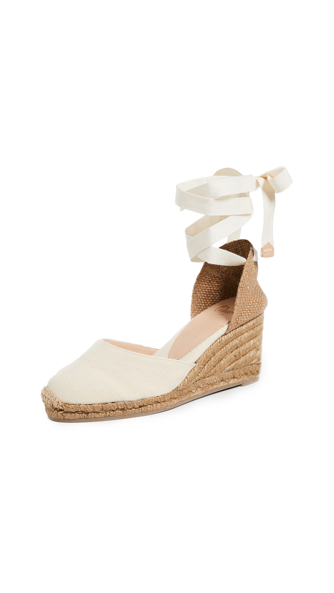 Castaner Carina 85mm Wedges - Nude