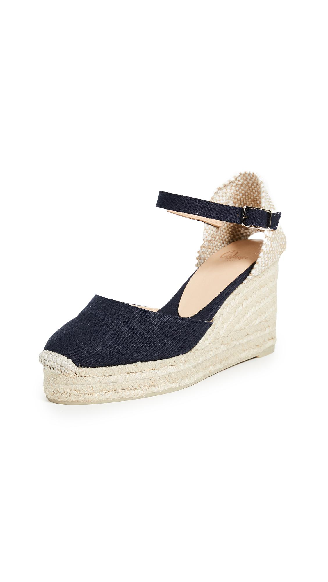 Castaner Carol Ankle Stap Wedges - Azul Marino