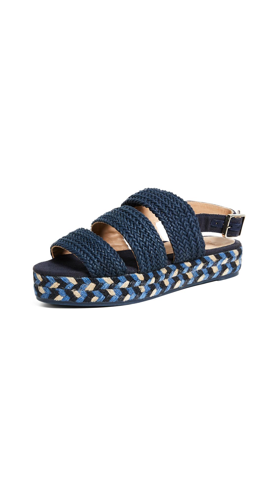 Castaner Wakame Flatform Sandals - Azul Oscuro
