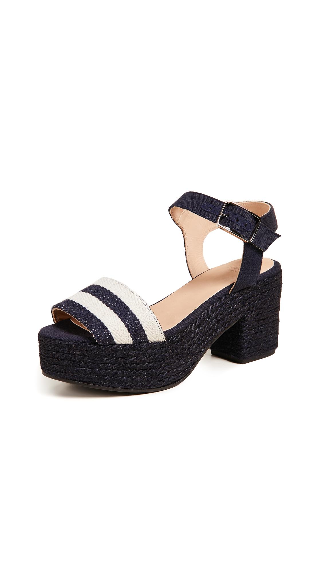Castaner Yam Platform Sandals - Azul Oscuro
