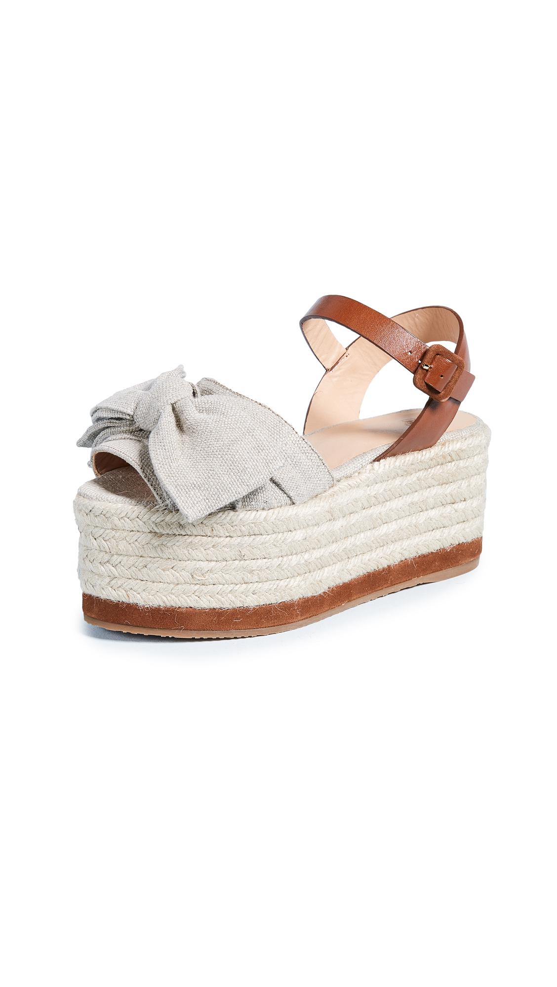 Castaner Wistaria Flatform Sandals - Natural/Natural Yute